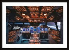 Space Shuttle Cockpit Columbia http://www.artsperfect.com/products/art02187/Space-Shuttle-Cockpit-Columbia Framed and Matted Art/Photography - $197.60