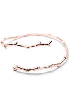 Twig Bracelet in Rose Gold