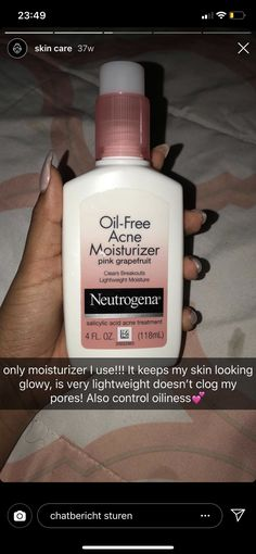 Neutrogena Oil-Free Acne Moisturizer Pink Grapefruit - Care - Skin care , beauty ideas and skin care tips Oily Skin Care, Healthy Skin Care, Face Skin Care, Dry Skin, Acne Moisturizer, Facial Cleanser, Clear Skin Tips, Hair Skin Nails, Facial Care