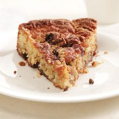 Penny's Apple Brown Sugar Coffee Cake Recipe -Not all apple cakes are the same. This one is the perfect mix of sweet apple and spiced chocolate crumb. —Silvana Nardone, Brooklyn, New York