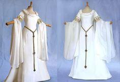 Elf dress AMIDA wedding dress wedding gown of medieval Elf Awen Elf Wedding Dress, Bridal Dresses, Wedding Gowns, Bridesmaid Gowns, Medieval Dress, Medieval Clothing, Princesa Real, Elf Clothes, Medieval Wedding