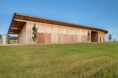 """While its reinforced rammed earth walls and """"horse pond"""" will be the talk of the architecture community, its spectacular roof should not be [under]over looked."""