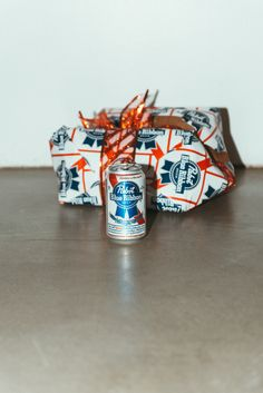 """Pabst """"PBR"""" Beer Socks Mid-Calf Length"""