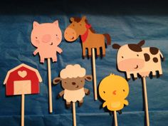 Farm Animals Cupcake Toppers by MandiesCelebrations on Etsy, $12.00