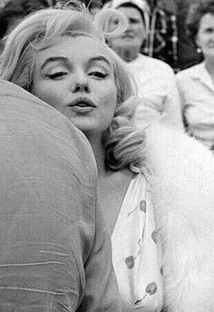 "Marilyn on the set of ""The Misfits"", 1960."