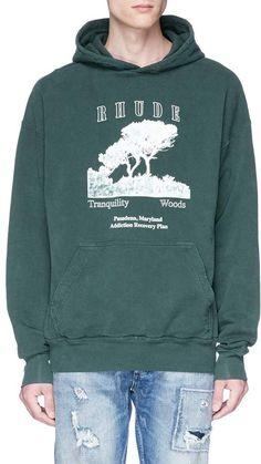 57f8d93bbf95 RHUDE | 'Tranquility' graphic print hoodie | Men | Lane Crawford - Shop  Designer Brands Online