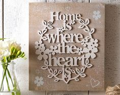 Home Is Where The Heart Is Wall Plaque Home Is Where The Heart Is Wall Plaque Sku: 903647 Rustic style wooden sentiment wall plaque. Complete with hanging fixture on the back. Wooden Plaques, Wall Plaques, Love Your Home, Wine O Clock, Home Network, Duvet Sets, Where The Heart Is, Rustic Style