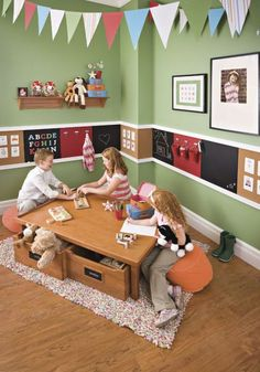 Kids Playroom Design Idea for Multiple Children