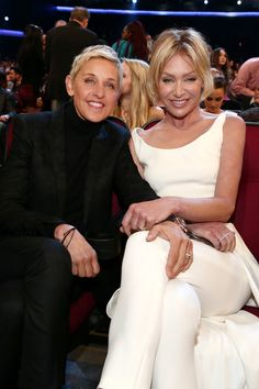 Ellen DeGeneres & Portia de Rossi - How Hollywood's Cutest Couples Met  - Photos