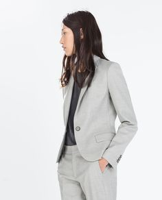 Image 1 of BLAZER WITH BUTTON from Zara