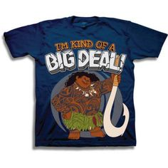 Moana Toddler Boys' Maui I'm Kind of a Big Deal Short Sleeve Graphic T-Shirt, Toddler Boy's, Size: 5 Years, Blue