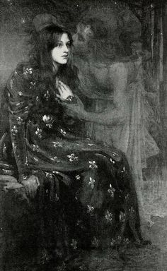 〜 The Silent Voice 〜 by Gerald Moira, 1898 Painting is silent poetry… by Plutarch – 120 AD) Renaissance Kunst, Illustration Art, Illustrations, Arte Obscura, Pre Raphaelite, Classical Art, Aesthetic Art, Oeuvre D'art, Art Inspo