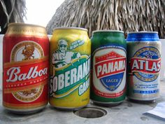 """Panamanian Beer ~ Panama's beer market is limited. There are 4 locally-produced lagers that have wide distribution. Atlas and Balboa tend to be the favorites; Atlas is the most popular brand among men despite the fact that it has 3.8% alcohol content compared to Balboa's 4.2%. Panama Lager doesn't seem to have much of a local following. Soberana, also has a 3.8% alcohol content, is marketed as a beer for women that won't cause excessive inebriation (hence the """"Sober"""" in the name). #Panama…"""