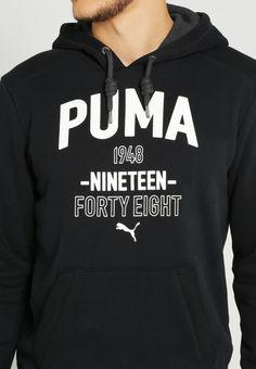 Puma Kapuzenpullover - black - Zalando.de