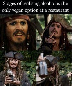 I love this meme because I love piratey things and the pirates of Caribbean and Johnny drop too. Brilliant nice guy. Lol plus it made me laugh I would so be making those faces too haha ha! I don't drink, but if I had no choice give me rum