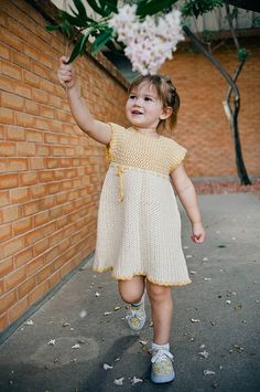 Crochet Pinafore Dress Pattern No. 14 by BallHanknSkein on Etsy