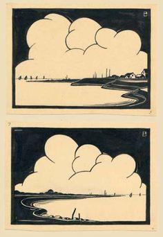 Piet Bulthuis, woodcuts, ca. 1930
