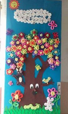 1000 images about decoracion puertas on pinterest for Puertas decoradas con flores de papel