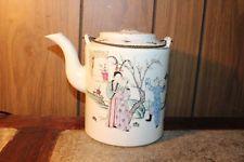 Weinlese-chinesisches Porzellan Teekanne  Von United States