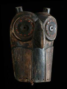 Luba owl mask DRC