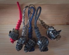 Paracord keychains with bead 550 paracord keychain with от GATURA