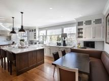 Charming Glass Cabinet Doors home interior design Image credit and contact owner for inquiry product and details to: John Johnstone Kitchen Dinning, Kitchen And Bath, Kitchen Seating, Dining Room, Marble Countertops, Kitchen Countertops, Kitchen New York, Sweet Home, Black Table Lamps