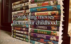 For example I watched Lady and the Tramp and Dumbo yesterday. Such amazing movies!