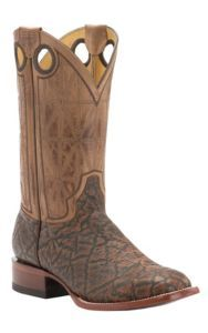 Cavender's by Old Gringo Men's Chestnut Printed Elephant with Wild Beige Goat Square Toe Western Boots | Cavender's