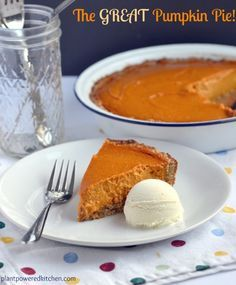 NEW! Pumpkin Pie! (vegan, soy-free, gluten-free)