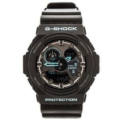 G-Shock GA300 Blue Accent ($170) ❤ liked on Polyvore