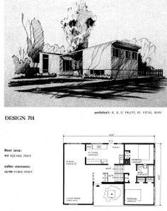 Mid-Century Modern Ottawa: CMHC house designs from the mid-century Mid Century House, Mid Century Style, Mid Century Design, Vintage House Plans, Modern House Plans, Vintage Homes, Modern Houses, The Plan, How To Plan