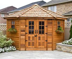 Add a garden shed to your backyard for an instant pick-me-up to your backyard landscaping. Create a garden oasis with a stylish shed that stores all your gardening tools, extra pots and bags of dirt and mulch.