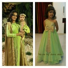 and baby muslim (notitle) Long Frocks For Girls, Mom And Baby Dresses, Mom Dress, Little Girl Dresses, Girls Dresses, Mother Daughter Matching Outfits, Mom Daughter, Baby Girl Dress Design, Kids Party Wear Dresses