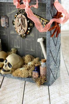 Halloween Shadow Box Decor Tutorial - Morena's Corner