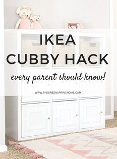 Most recent No Cost Easy DIY Applique IKEA Kallax Hack. Transform your basic IKEA furniture into a h. Concepts The IKEA Kallax series Storage furniture is a vital element of any home. They offer get and assist Ikea Cubbies, Ikea Storage, Storage Hacks, Storage Ideas, Living Room Toy Storage, Ikea Bedroom Storage, Toy Storage Solutions, Hidden Storage, Trofast Ikea