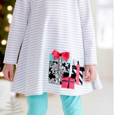 Peaches 'N Cream Silver Holiday Gifts 2 piece set from Freckles Children's Boutique for $68.00