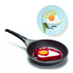 Make the perfect fried egg with the Sunnyside Fried Egg Shaper from The Kitchen Gift Co and brighten up your breakfast with this cool kitchen gadget. Red Kitchen, Kitchen Gifts, Kitchen Stuff, Kitchen Tools And Gadgets, Cooking Gadgets, Silicone Egg Mold, Perfect Fried Egg, Egg Rings, Egg Molds