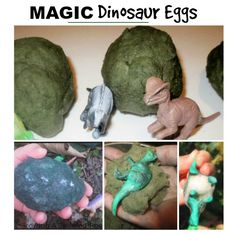 A NEW recipe for making dinosaur eggs using only two ingredients. These magic eggs hatch and everything to reveal baby dinosaurs!