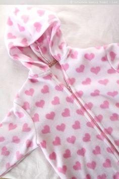 fleece jacket free pattern and tutorial