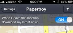 Paperboy, News.Me latest app feature, automatically downloads news while you're on the go!!