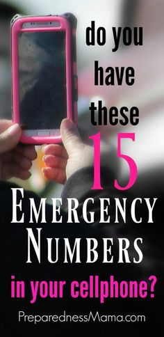 Keep these 15 emergency numbers in your cell. Save time and give you peace of mind should an emergency arise. Use your cell and be prepared! Emergency Preparedness Kit, Emergency Preparation, Emergency Supplies, Emergency Planning, Survival Food, Survival Prepping, Survival Skills, Survival Hacks, Outdoor Survival