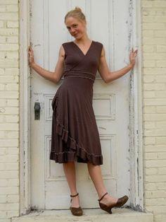 Jasper ~ Ruffled Wrap Dress ~ Organic Cotton Blend ~ Made to Order by yanadee on Etsy https://www.etsy.com/listing/86251801/jasper-ruffled-wrap-dress-organic-cotton