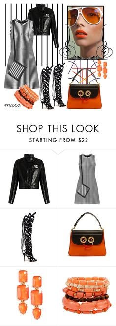 """""""Touch of orange...."""" by marastyle ❤ liked on Polyvore featuring Forum, Courrèges, MSGM, Sophia Webster, J.W. Anderson and Loren Hope"""