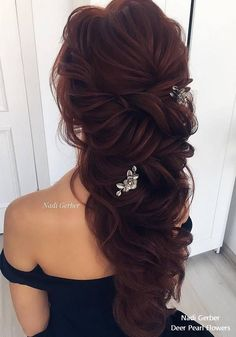 Nadi Gerber long wavy wedding hairstyles #weddinghairstyles
