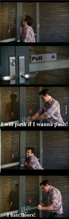 That's why I wait for others to push/pull the door before I do lmfao