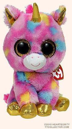 Fantasia (medium) - unicorn - Ty Beanie Boosjdjke d Ty Animals, Ty Stuffed Animals, Unicorn Birthday Parties, Unicorn Party, Ours Boyds, Ty Teddies, Ty Peluche, Ty Babies, Ty Toys