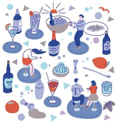 CYAN 2015 AUTUMN | Canned and Gymnastics | Illustration Cocktail