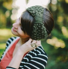 Lichen Green knitted headband knit headband on Wanelo from BglorifiedBoutique