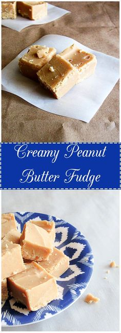 Creamy Peanut Butter Fudge is perfectly silky, smooth and makes a great bite-sized dessert. It's quick, simple and only has 3 ingredients. | Berly's Kitchen