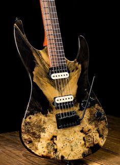 Suhr Modern Custom Buckeye Burl Maple / Basswood Electric Guitar - Natural
